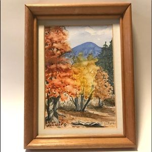 "Original Watercolor ""Fall In Scott Valley"""